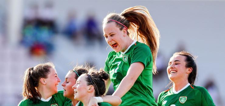 Team Ireland against South Korea