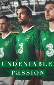 a62c2cfbf6d Home Jersey. Available Now. Three - Primary Sponsor of the Football  Association of Ireland